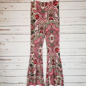 Free People Harper Printed Fit & Flare Pant Size M